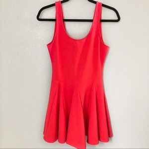 KNT By Kova & T Red Pleated Skater Dress
